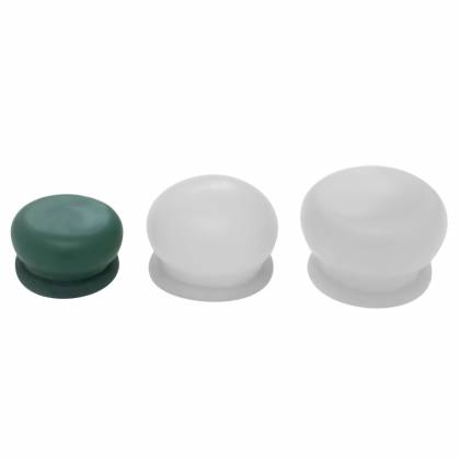 5 x anatomically adaptive small adhesion diaphragm (green) made of soft latex